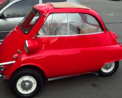 red 1957 BMW Isetta