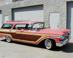 1957 Mercury Colony Park wagon wood grain