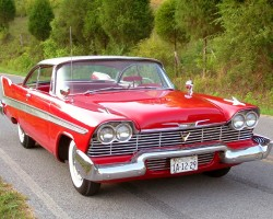 red 1958 Plymouth Fury Christine