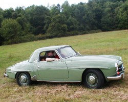 green 1960 Mercedes 190SL