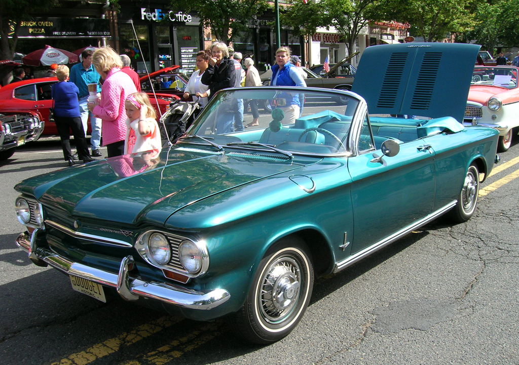 1963 Chevrolet Corvair with wire wheel covers