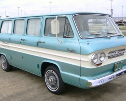 1965 chevrolet corvair van with wire wheel covers