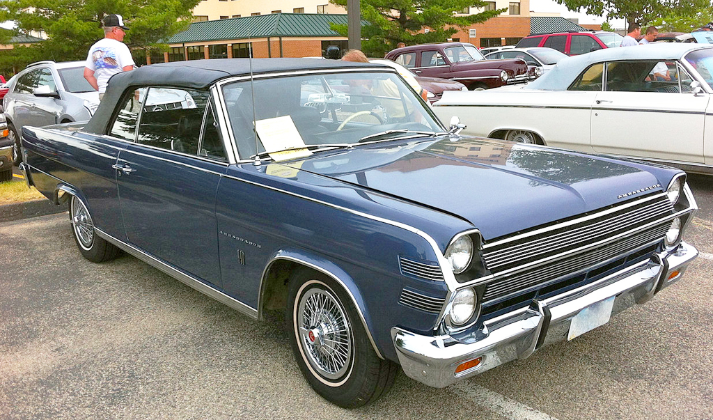 1966 AMC Ambassador convertible with wire wheel covers