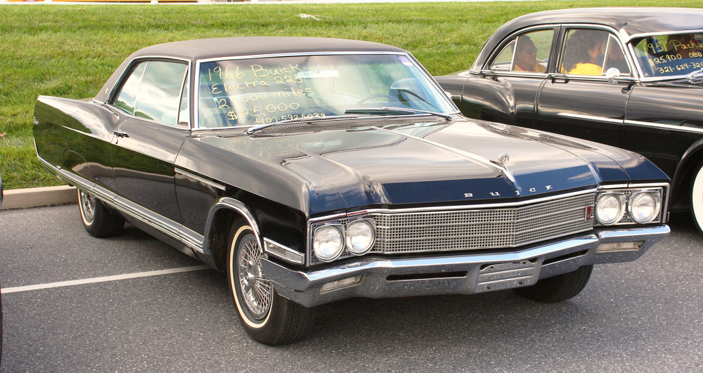 1966 Buick Electra with wire wheel covers