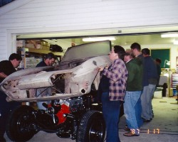 1966 chevrolet corvette body on frame