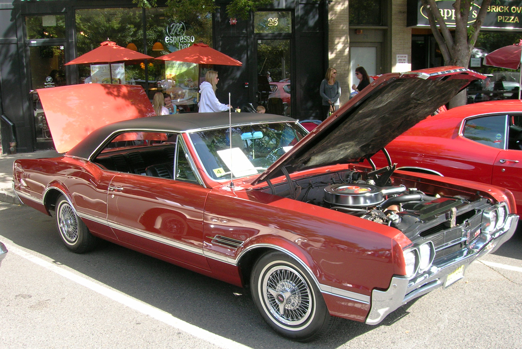 1966 Oldsmobile Cutlass with wire wheel covers