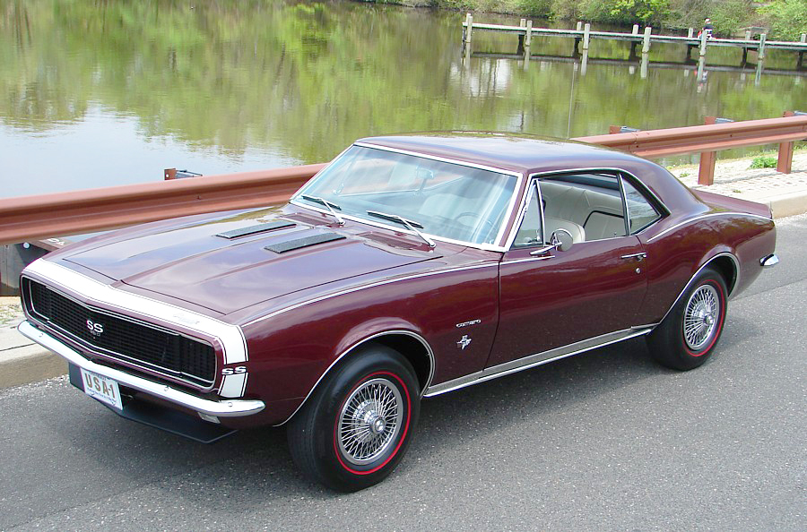 1967 Chevrolet Camaro with 14-inch wire wheel covers