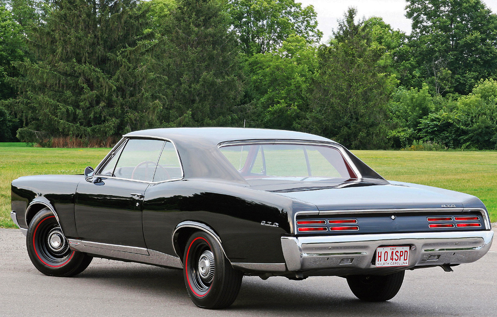 1967 Pontiac GTO rear view   CLASSIC CARS TODAY ONLINE