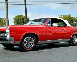 red 1967 Pontiac GTO convertible