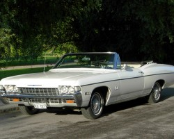 1968 Chevrolet Impala convertible wire wheel covers