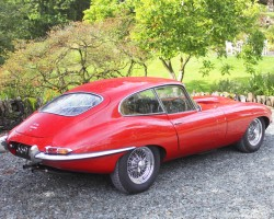 red Jaguar E-type coupe