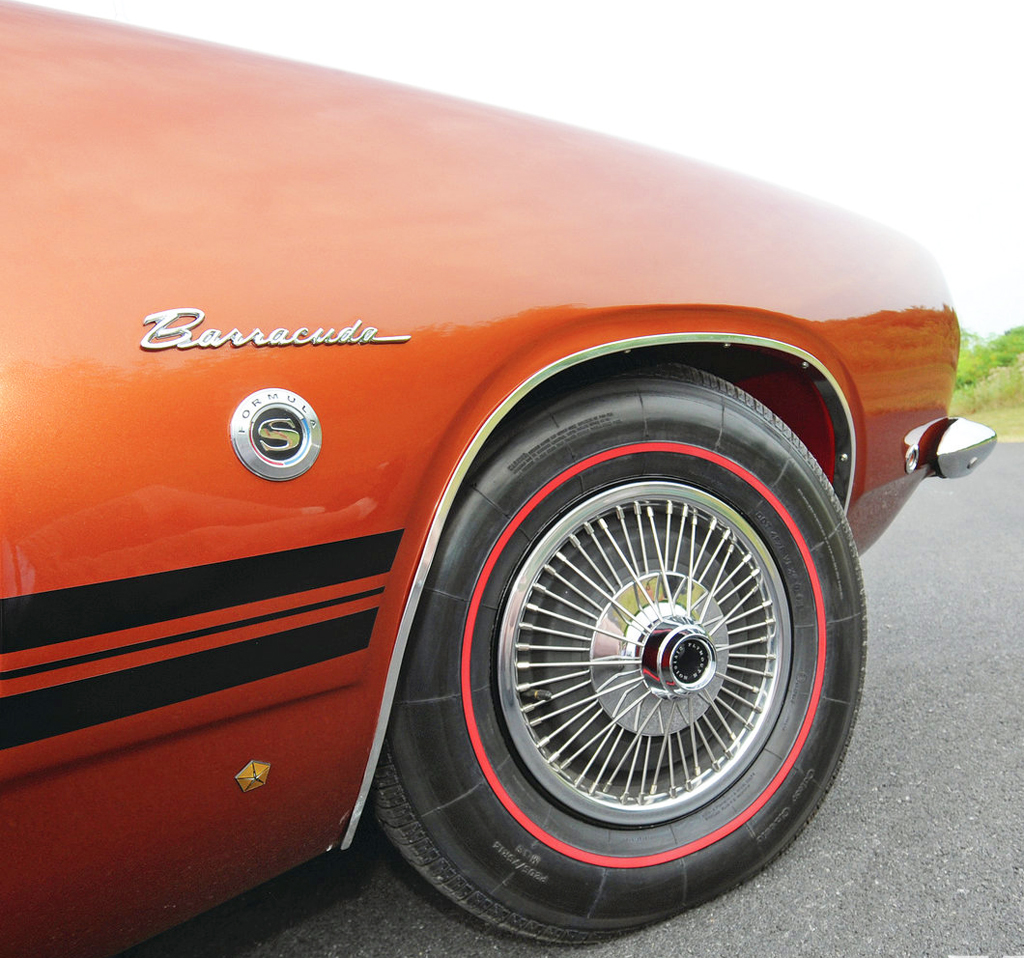 1968 Plymouth Barracuda wire wheel cover