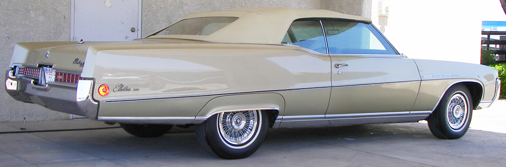1969 Buick Electra convertible with 15-inch wire wheel covers