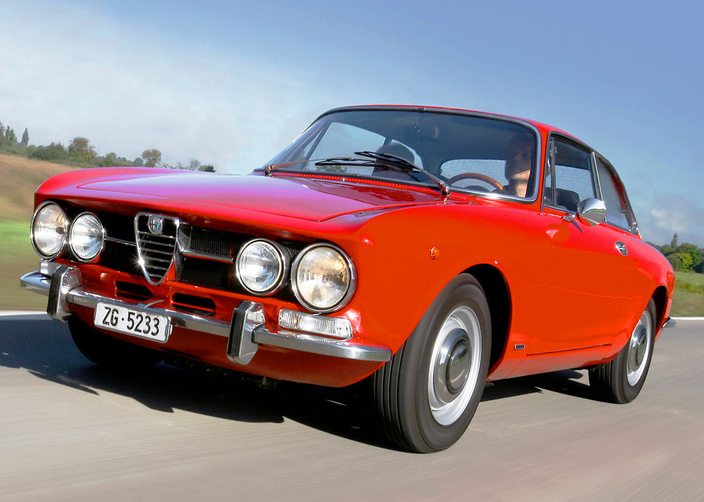 red 1970 Alfa Romeo 1750 GTV