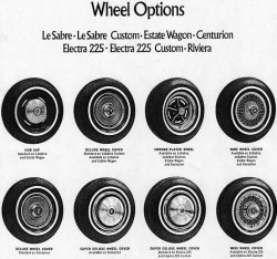 1971 buick wire wheel covers