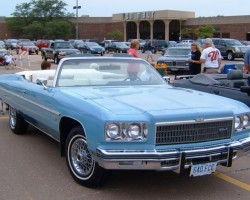 blue 1975 Chevrolet Caprice convertible