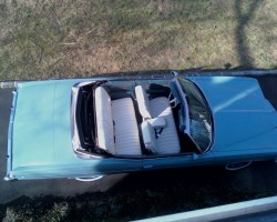 arctic blue 1975 Pontiac Grand Ville convertible