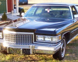black 1976 Cadillac Fleetwood