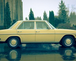 yellow 1976 Mercedes 240D 300D diesel