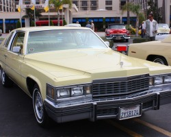 yellow 1977 Cadillac Coupe deVille
