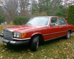red 1978 mercedes 300sd