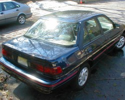 navy blue 1991 Mercury Tracer