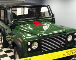 green Land Rover Defender 90