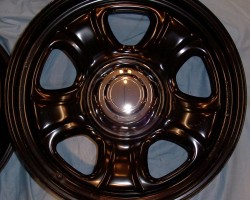 Dodge police car wheel