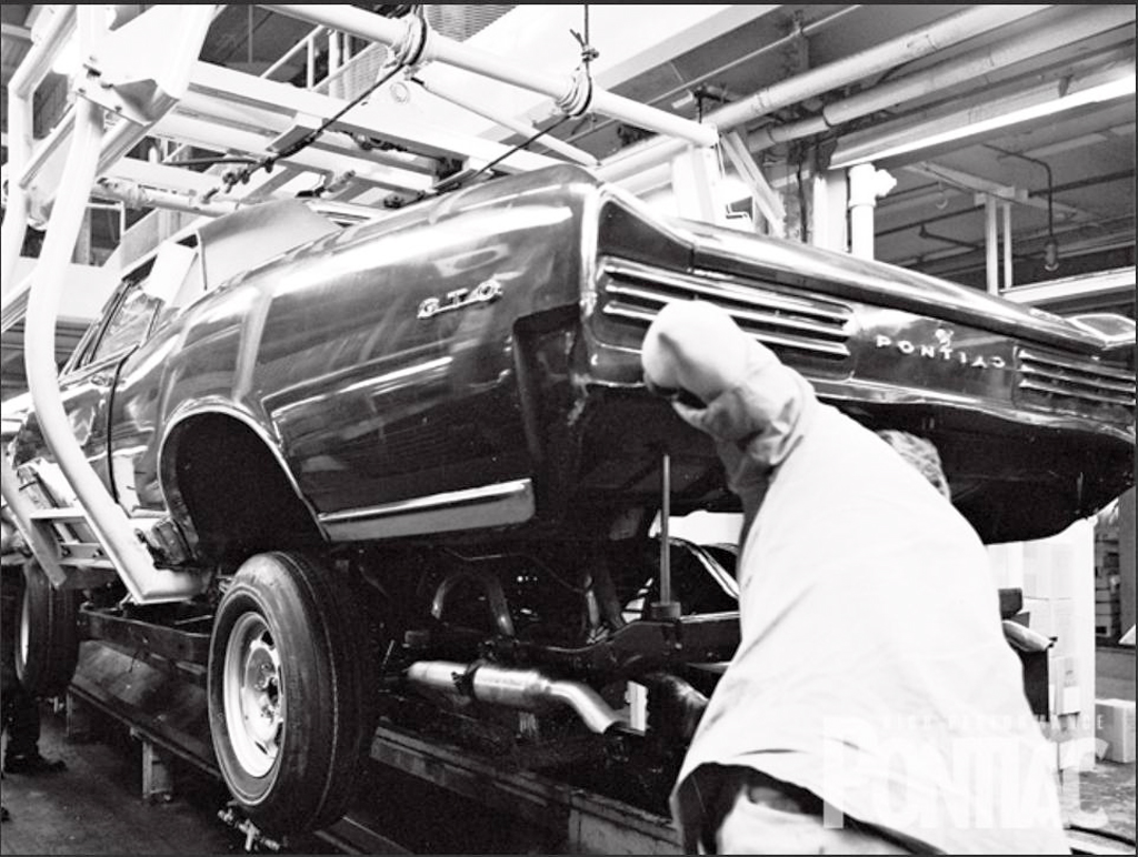1966 Pontiac Gto On Assembly Line Classic Cars Today Online
