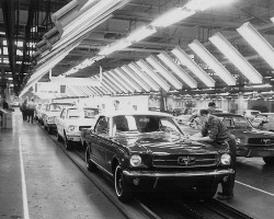 1965 Ford Mustang assembly line