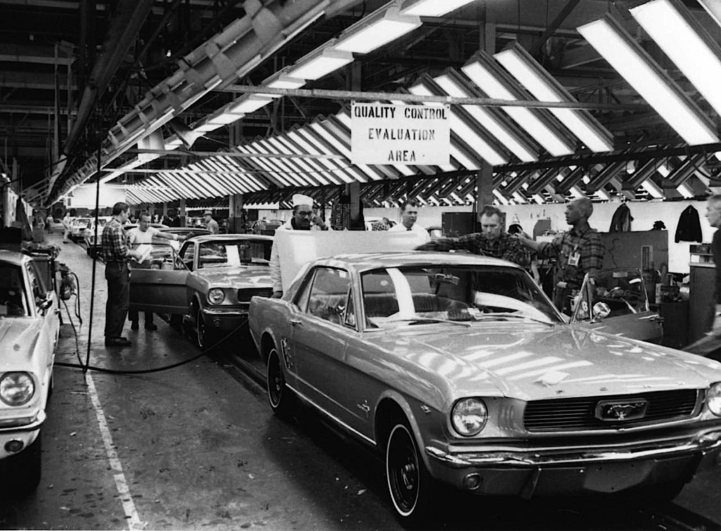 1964 Ford Mustang assembly line