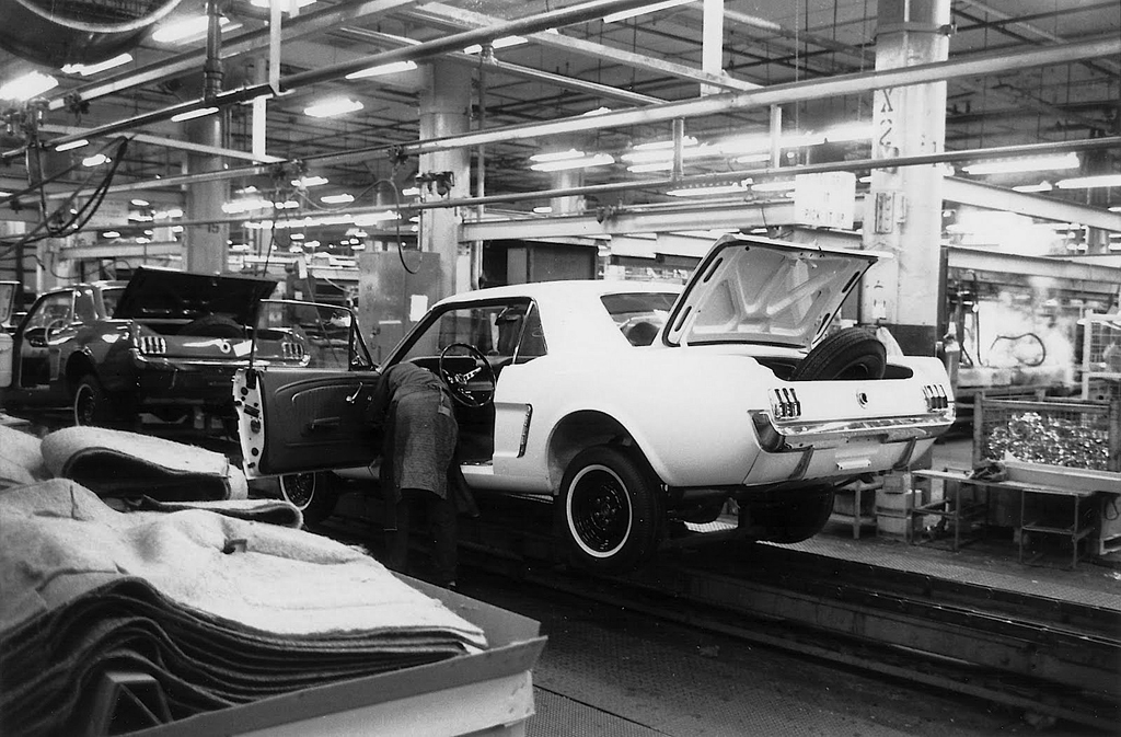 1966 ford mustang assembly line