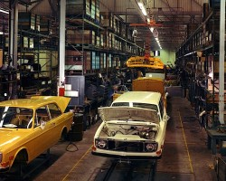 1971 Volvo assembly line