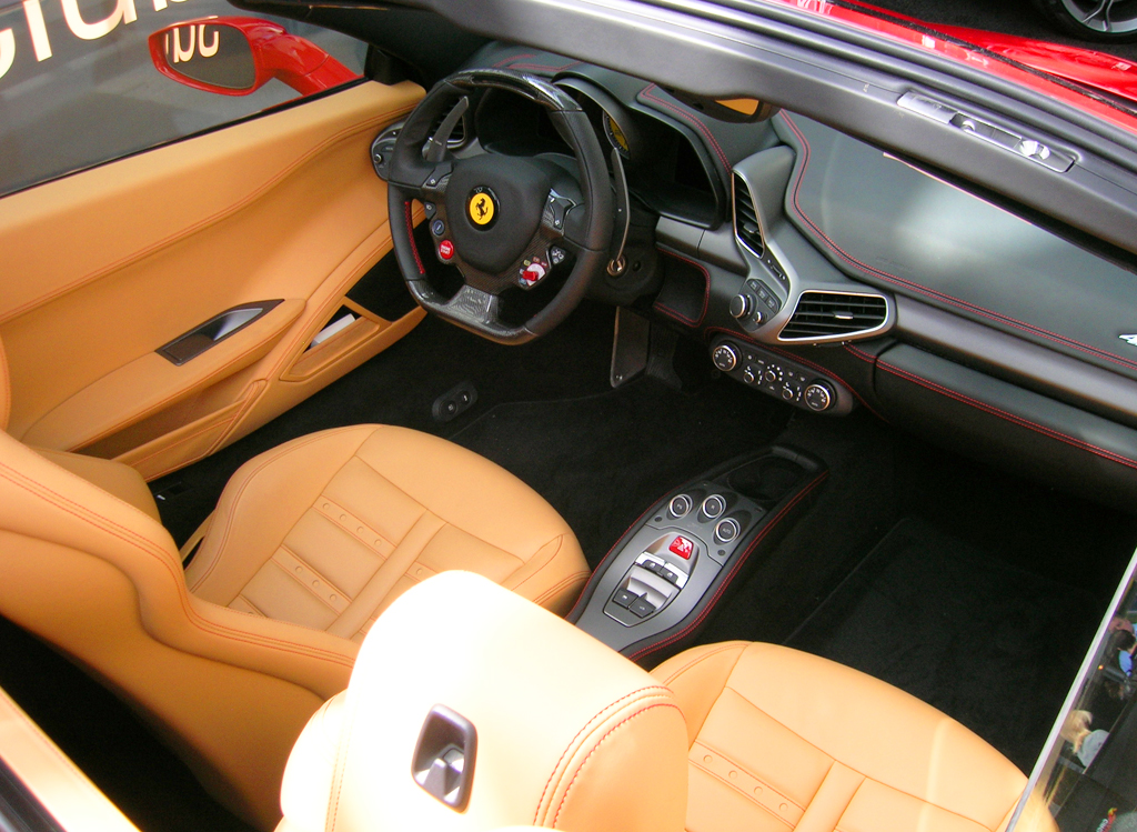 Lovely 2013 Ferrari 458 Italia Interior View At The 2013 New York Auto Show