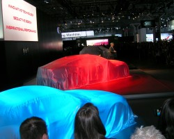 Jaguar press introduction NY auto show