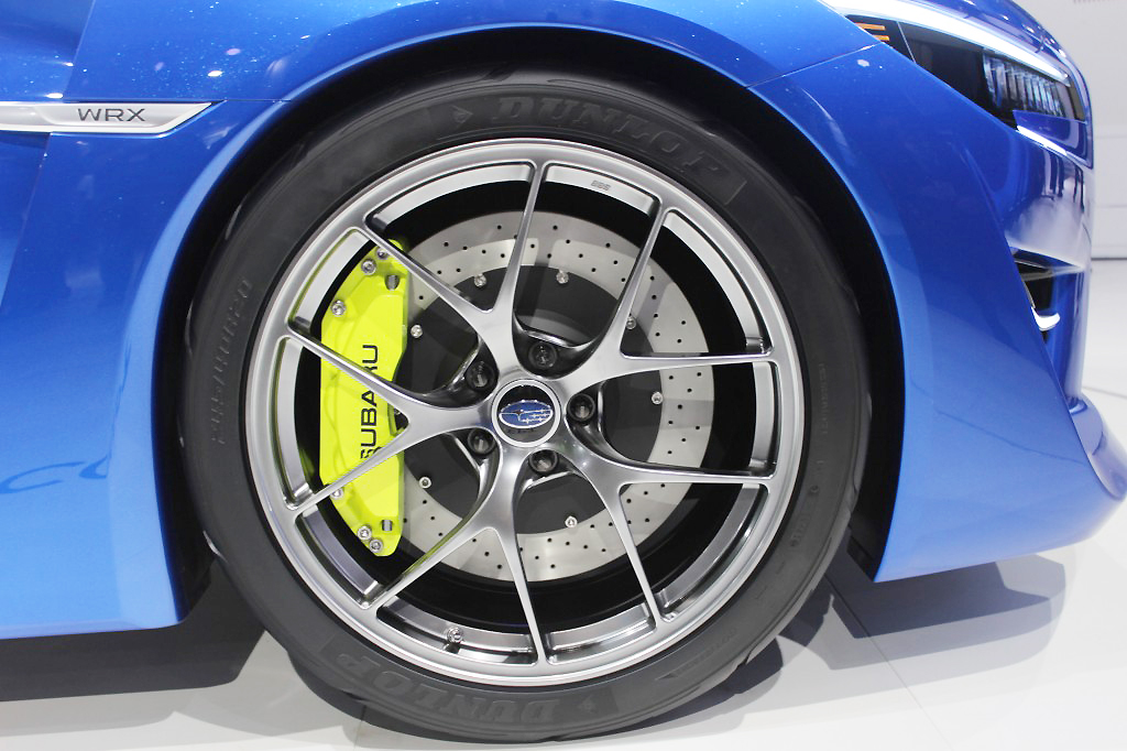 2013 Subaru WRX concept wheel at the 2013 New York Auto Show