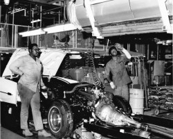 1973 Cadillac assembly line