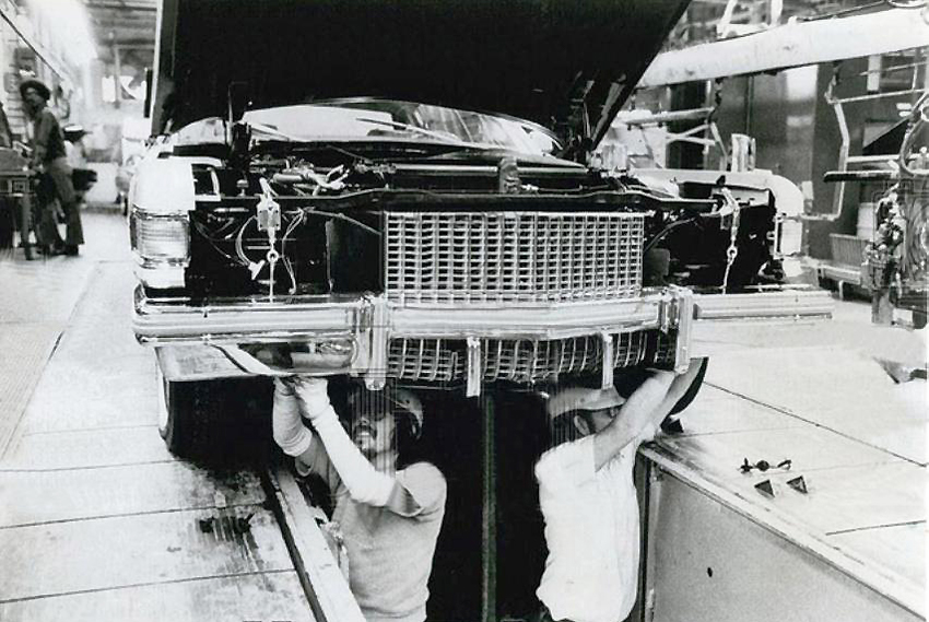 1975 Cadillac assembly line