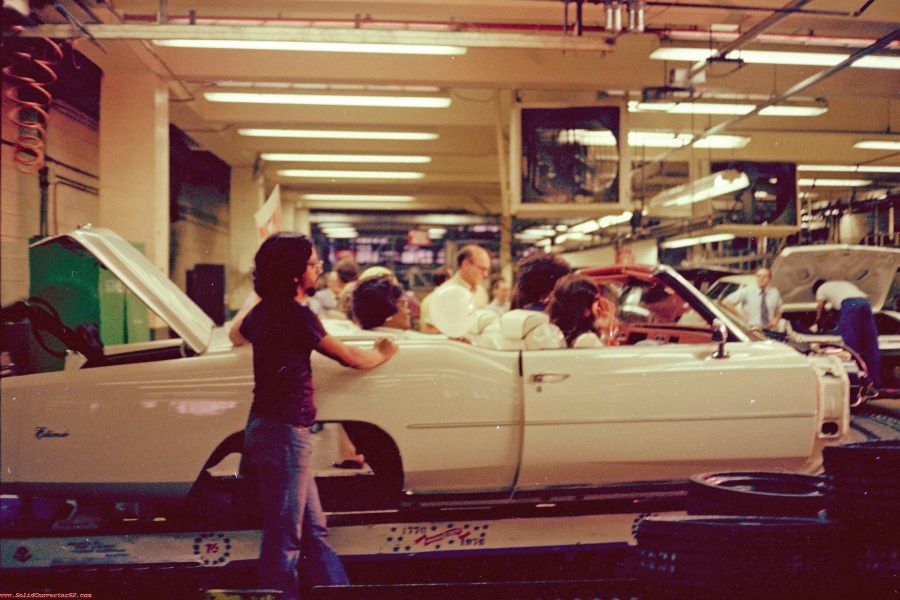 1976 Cadillac Eldorado convertible assembly line