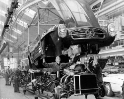 1958 Mercedes 300SL assembly line