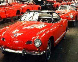 Volkswagen Karmann Ghia assembly line