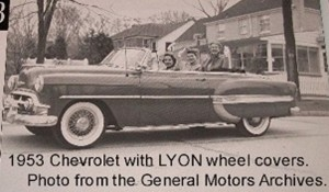 1953 chevrolet with lyon wire wheel covers classic cars today online. Black Bedroom Furniture Sets. Home Design Ideas