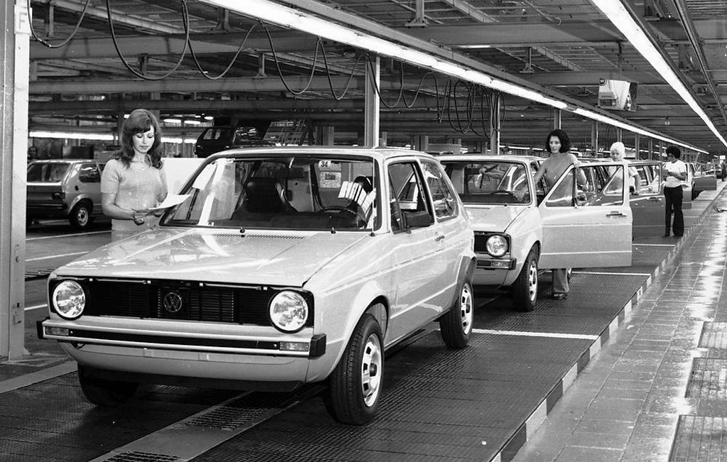 1977 Volkswagen Rabbit assembly line