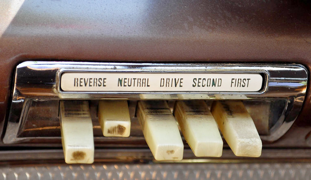 1961 Plymouth pushbutton control panel