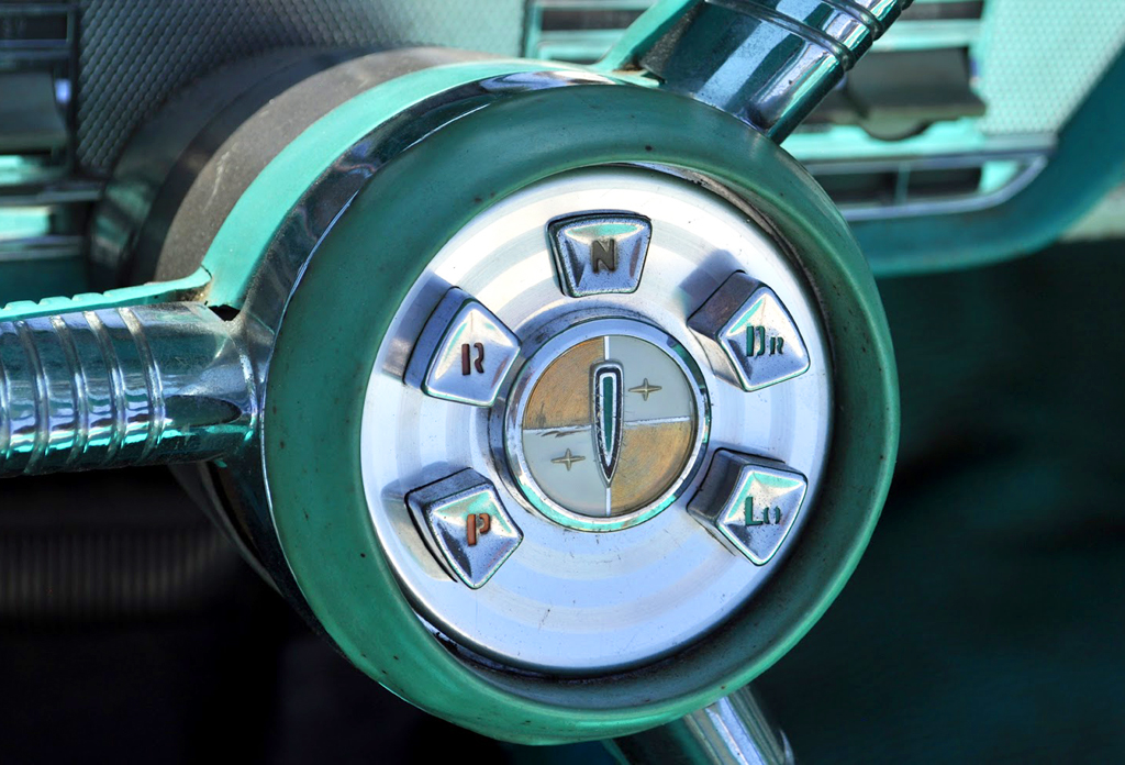 1958 Edsel pushbutton transmission control