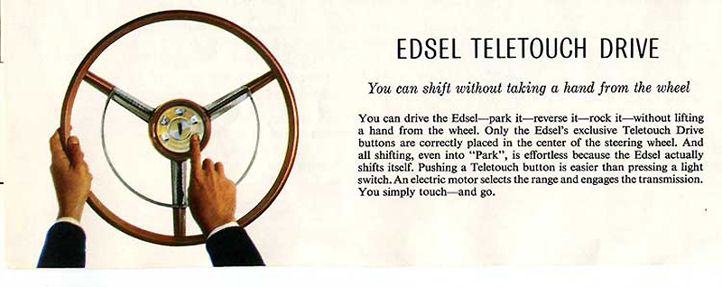 1958 Edsel pushbutton transmission controls