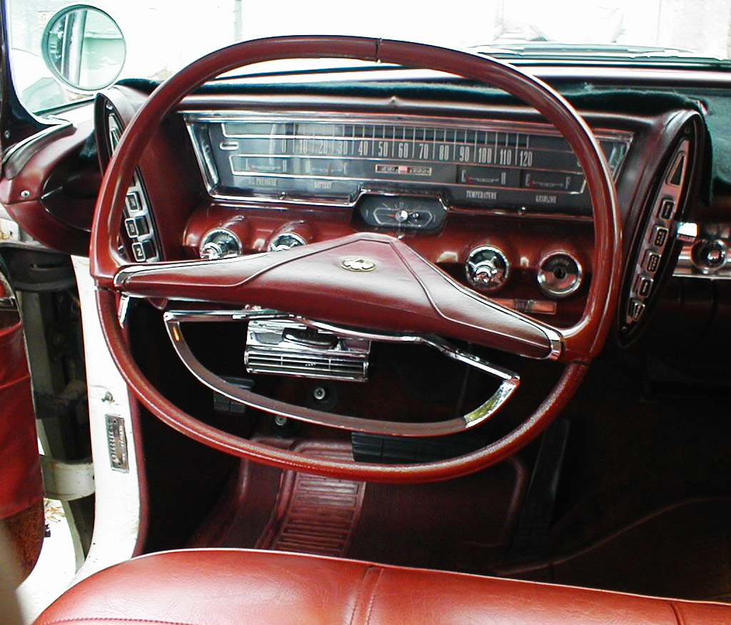 Dashboard Of 1963 Chrysler With Push Button Transmission