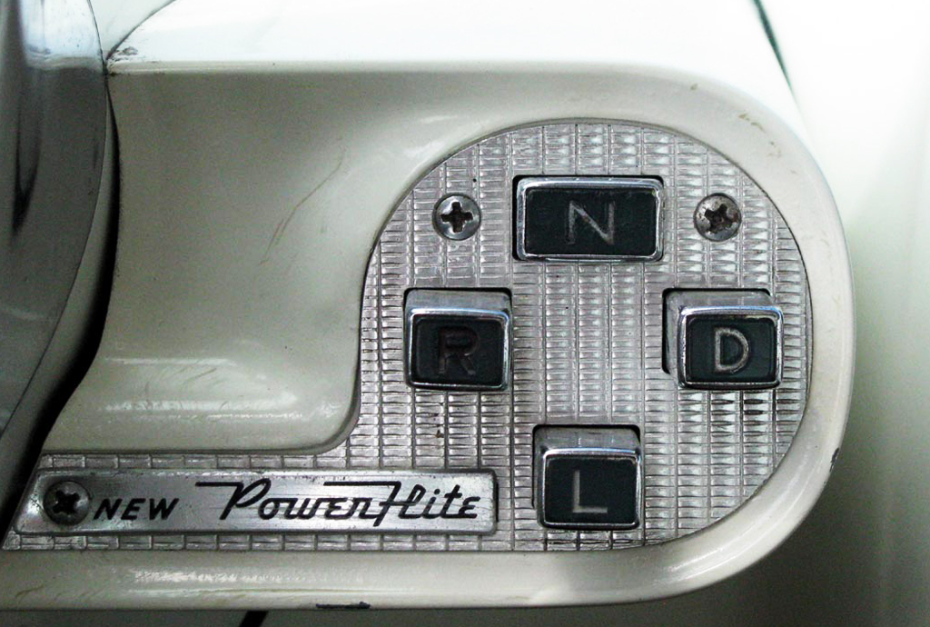 1956 Plymouth pushbutton transmission selector