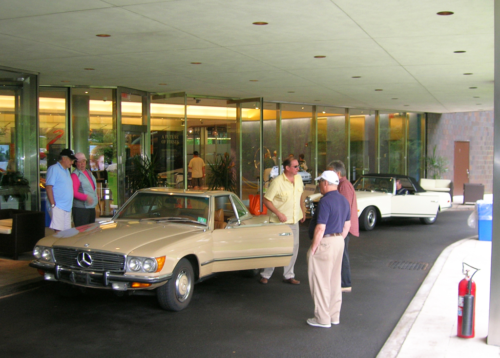 A 1973 Mercedes 450SL during checkin at the 2013 Mercedes June Jamboree car show