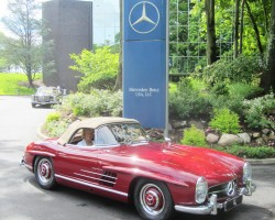 red 1957 Mercedes 300SL